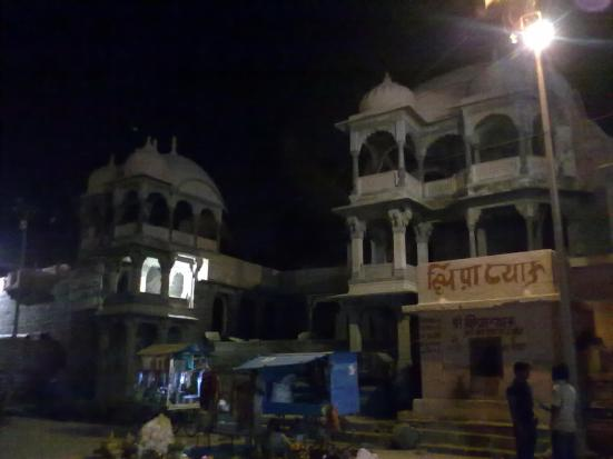 Another shot of the riverside buildings in Ujjain