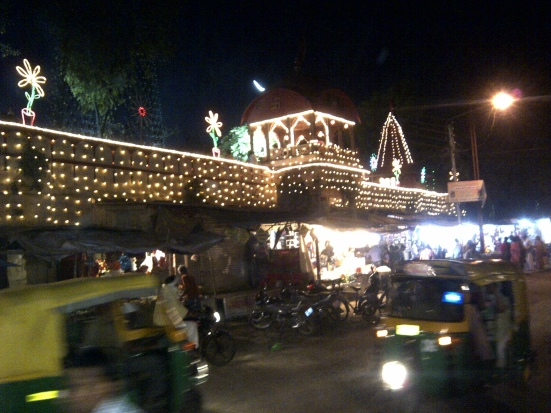 Evening lights in Ujjain